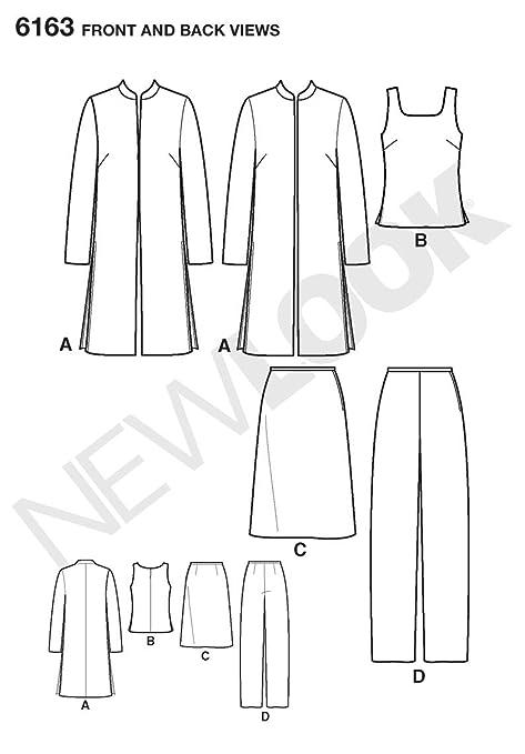 New Look 6163 - Patrones de costura para conjunto de chaqueta, blusa ...
