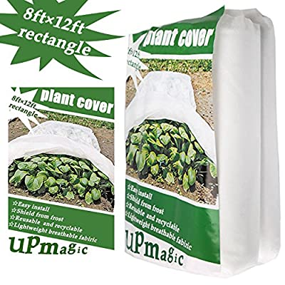 Premium 16.5 OZ Plant Covers for Winter, Reusable Frost Plant Protection Cover 8 Ft?12 Ft Rectangle
