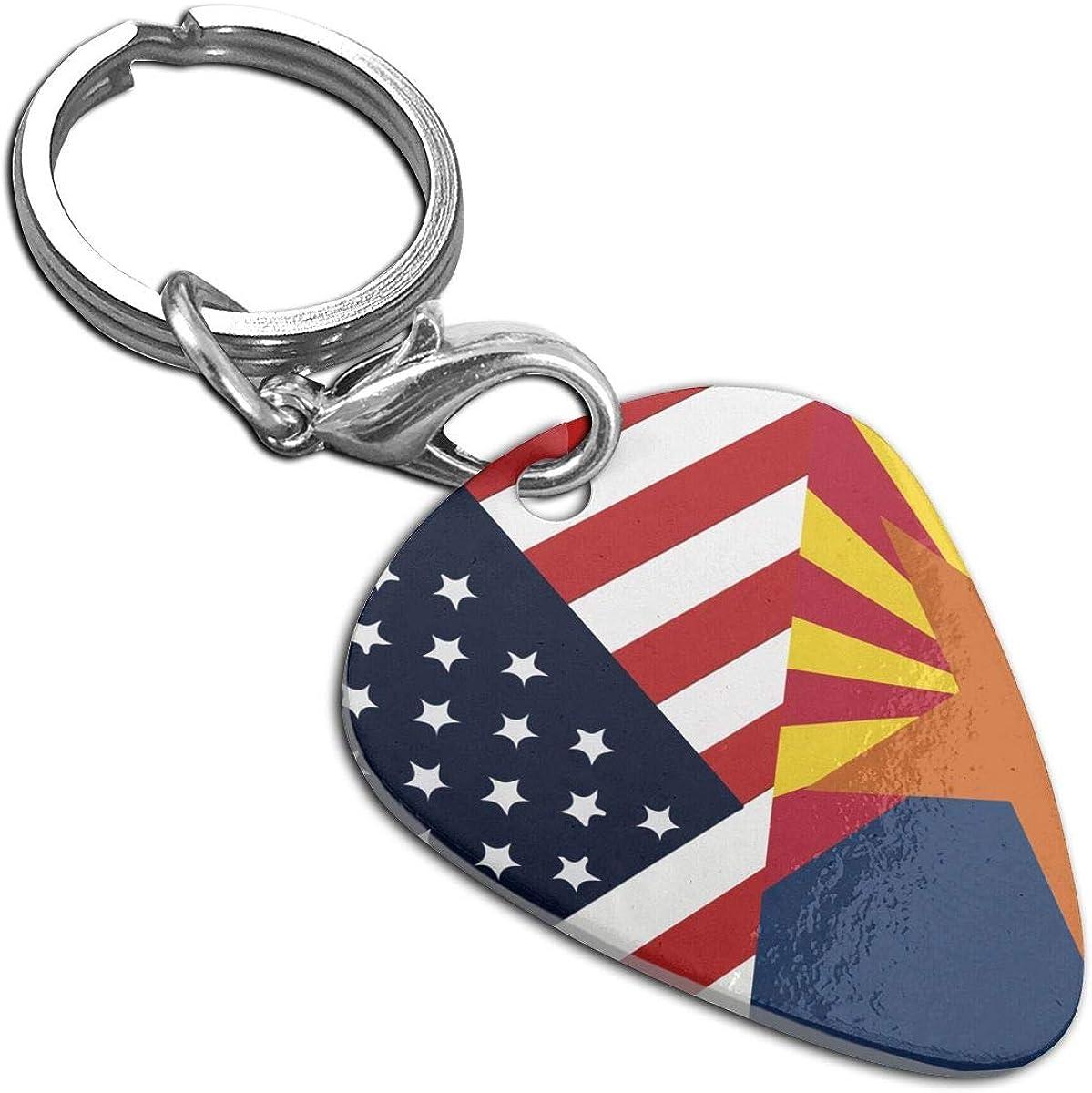 Arizona State Flag Guitar Pick Necklace Pendant Pet Card Keychain