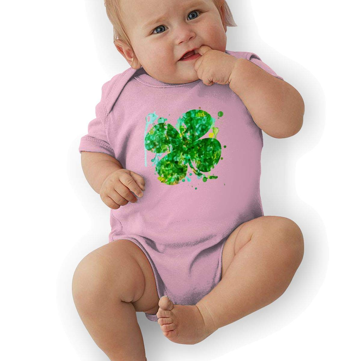 Artistic Irish Clover Baby Boys Girls Jumpsuit Overall Romper Bodysuit Summer Clothes