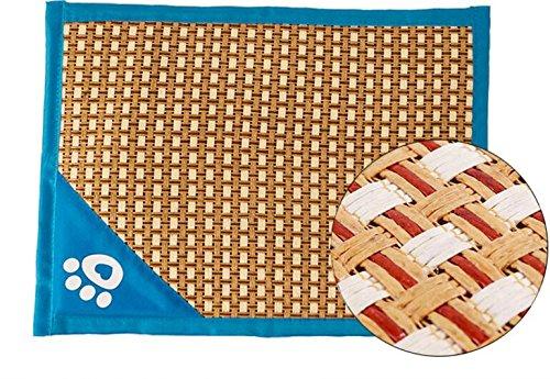 Comfortable Thin Stripes Design Pet Mat Anti Slip Summer Cooling Mat (55  43  2cm,bluee) Suitable