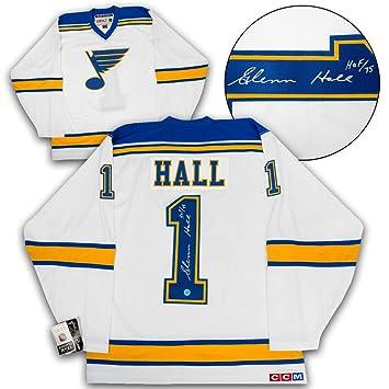 Glenn Hall St. Louis Blues Autographed Autograph 1967 Expansion Retro CCM  Hockey Jersey - Certificate 6171f25b7