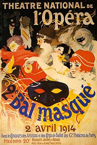 Amazon.com: Máscara ópera nacional Bal Masque 1914 Señoras ...