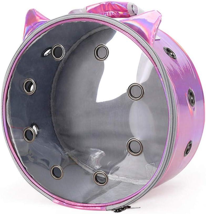 Gulunmun Mochilas Porta-Gatos Agujeros Transpirables Mochila Plegable para Mascotas para Viajes para Gatos y Perros pequeños Bolsa Transparente-roja, L35W17H35cm: Amazon.es: Productos para mascotas