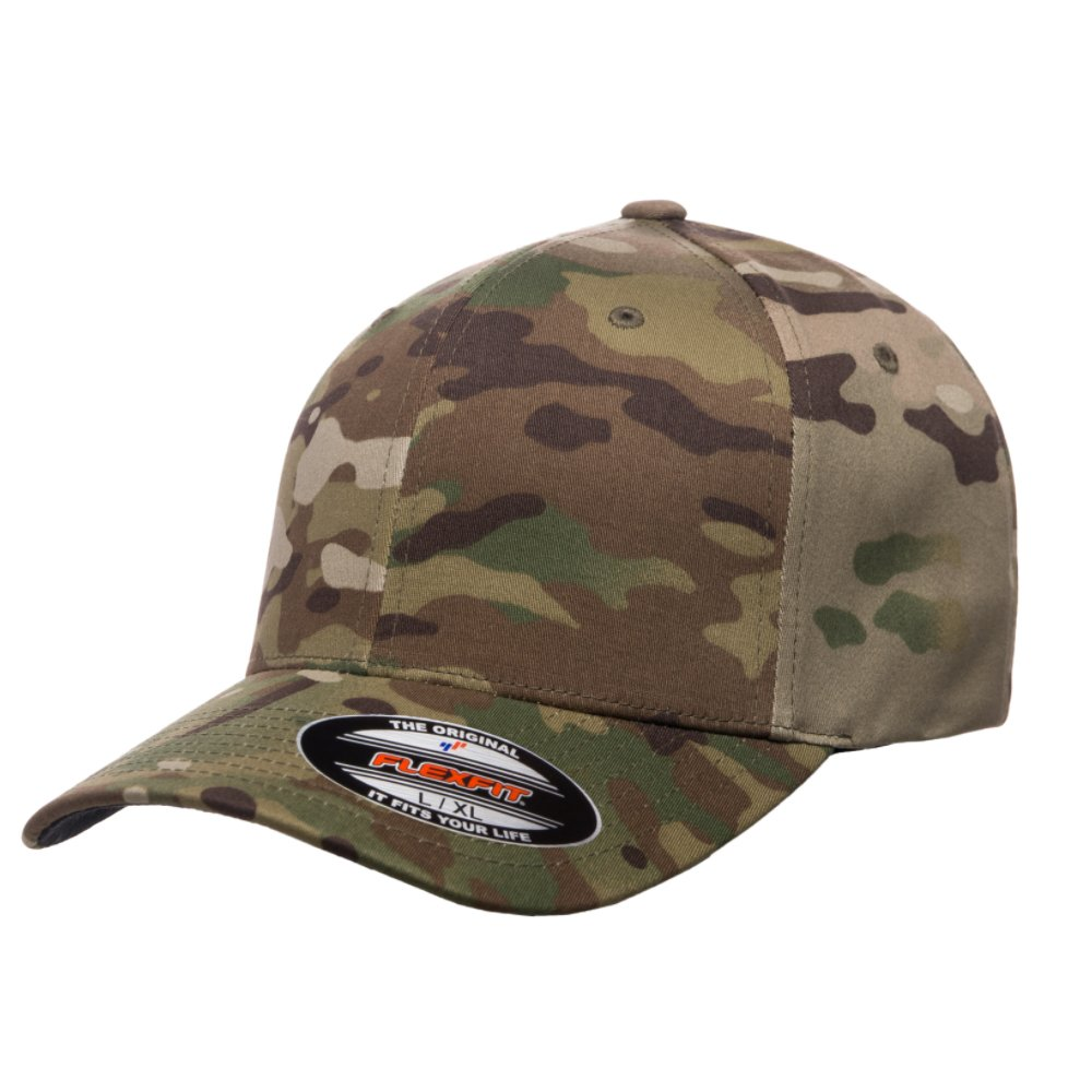 01e0a0b865d6c 2040USA Flexfit Original Multicam and Multicam Black Pattern Hats 6277  (6277 MC Black-L XL)  Amazon.ca  Clothing   Accessories