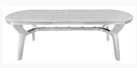 Tavolo Da Esterno Plastica.Tavolo Da Giardino Allungabile In Plastica Resina 180 230 Cm