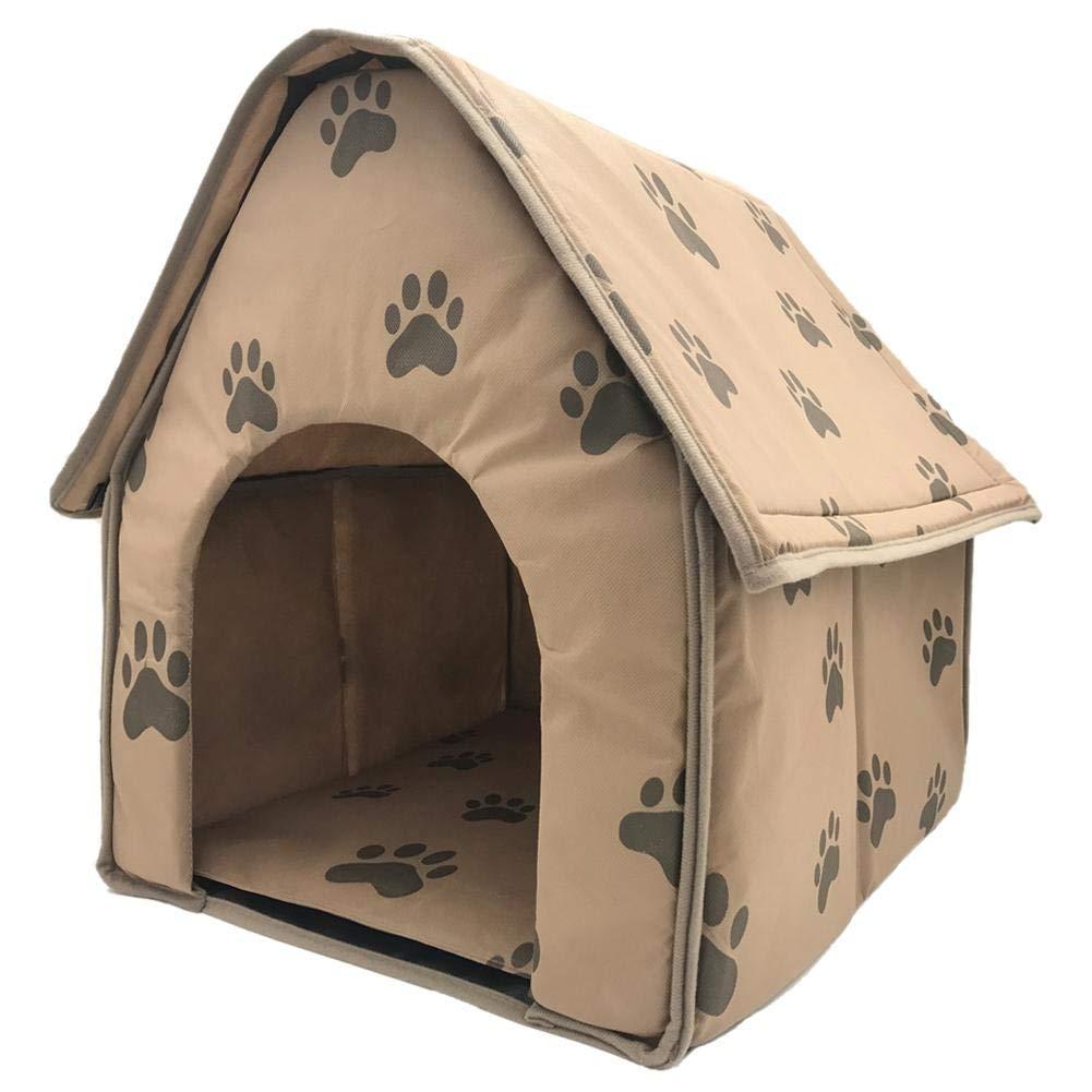 Youngsown Piccola Impronta Pet House Interno Cane Gatto Culla Peluche Cuscino Caldo Staccabile Portatile Piccola casa