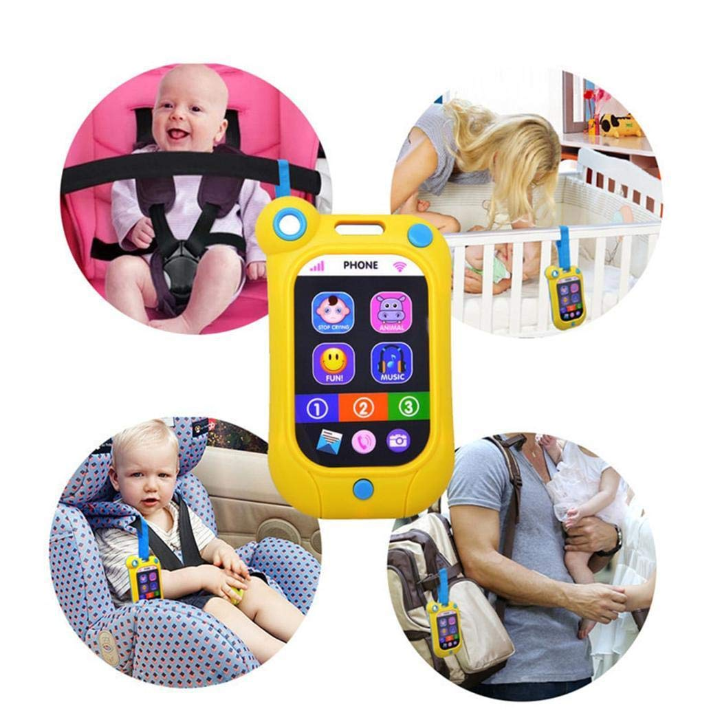 IEnkidu Kids Baby Multi-Functional English Version Touch Screen Toy Ph (Color Random)