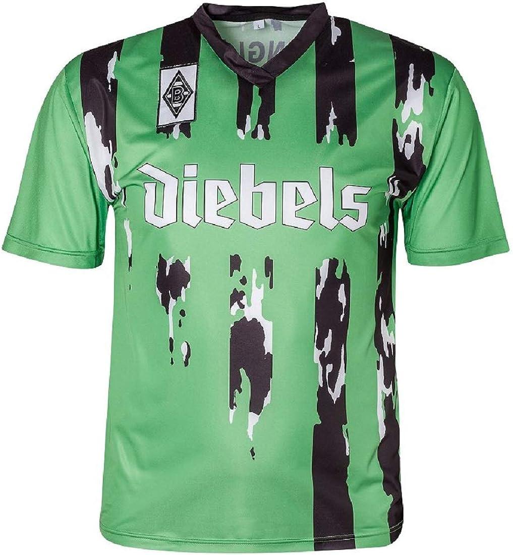Score Draw Camiseta retro del Borussia Mönchengladbach para hombre, con licencia oficial, 1995