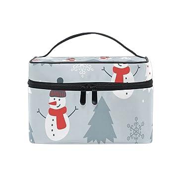30c6d838f9d7 Amazon.com : Makeup Bags Organizer Snowman snowman Snowflake Tree ...