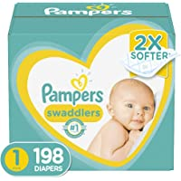 Deals on 198Ct Pampers Swaddlers Disposable Baby Diapers Newborn Size 1