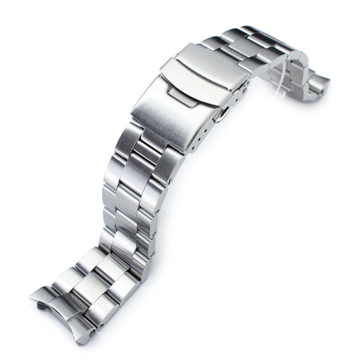 22mm Brushed Oyster Solid Link 316L Stainless Steel Bracelet for Seiko SKX007 Diver by Seiko Replacement by MiLTAT