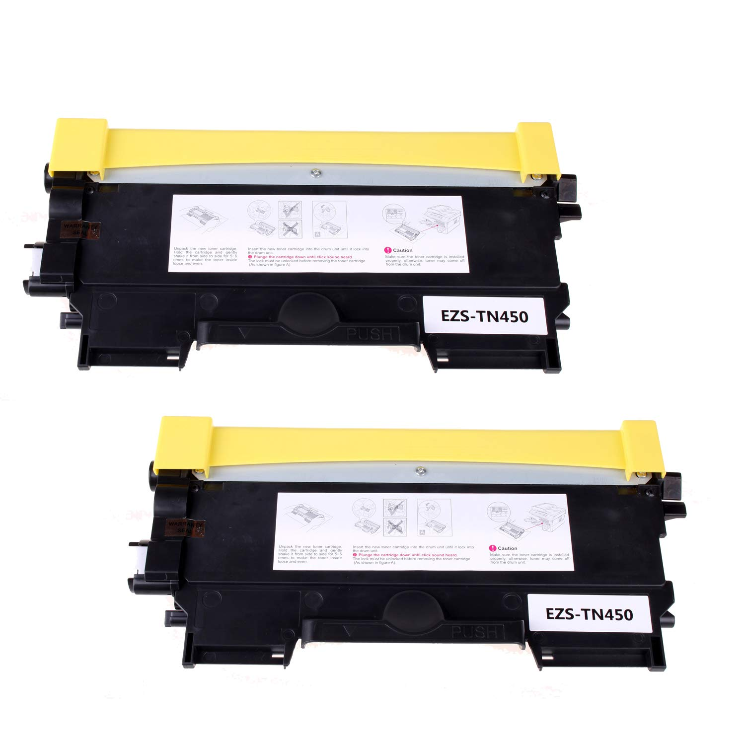 ZQL TN450 TN-450 Compatible Toner Cartridges Brother HL-2240 HL-2240D HL-2270DW HL-2280DW MFC-7240 MFC-7460DN MFC-7860DW Black, High Yield, 2 Pack