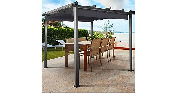 ProBache – Pérgola cenador de aluminio de con techo retráctil ...