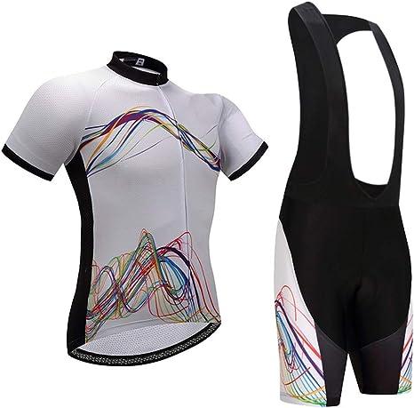 TZTED Maillot Ciclismo Corto De Verano con 3D Almohadilla De Gel para Bicicleta MTB Ciclista Bici para Hombre: Amazon.es: Deportes y aire libre