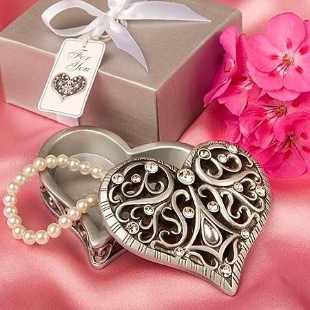 Fashioncraft Exquisite Heart Shaped Curio Box 8631