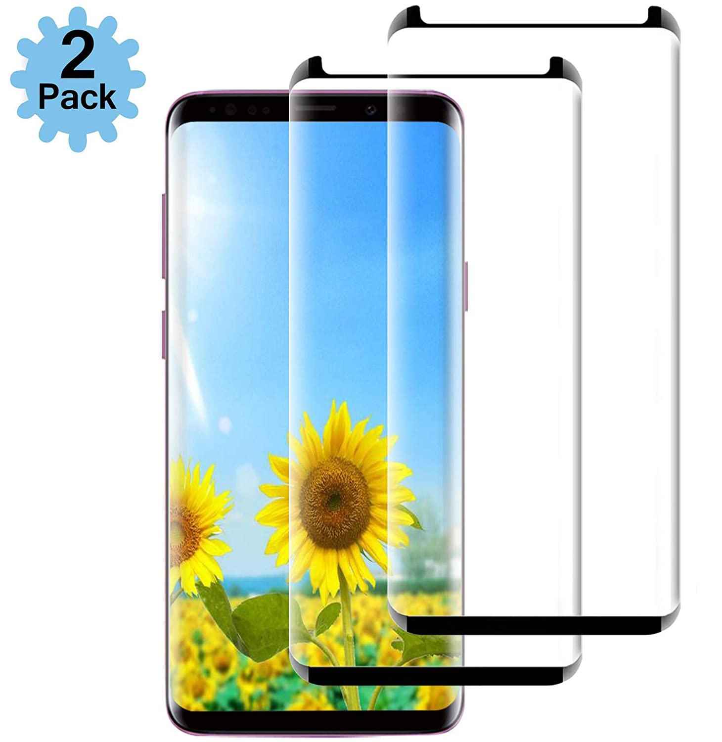 [2Pack] Galaxy Note 9 Screen Protector, Note 9 Tempered Glass[Case Friendly][Anti-Bubble][HD Clear] Tempered Glass Screen Protector Compatible with Samsung Galaxy Note9 my-handy-design
