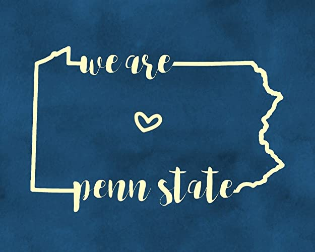 Amazon Com We Are Penn State Wall Decor Blue And White Art