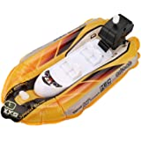 Winkey Mini Inflatable Yacht Boat Childrens Bath Toy Pool Toys Motorboats Inflators Toys for 1 2 3 4 5 6 Years Old Baby Boy Girl Yellow