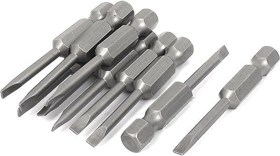 10 Pcs 50 Mm Länge Magnetverschluss 4 Mm Breite Schlitz Tipp Schraubendreher Bits Baumarkt