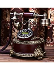 Wjvnbah Landline telephone Creative Phone Antique European Style Vintage Telephone Household Office Fixed - Line Seat Phone