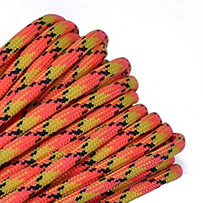 BoredParacord - Over 300 Colors 1', 10', 25', 50', 100' Hanks & 250', 1000' Spools Parachute 550 Cord Type III 7 Strand Paracord