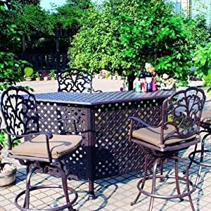 Amazon.com : Darlee Catalina 5 Piece Cast Aluminum Patio