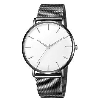 Relojes de Pulsera para Hombres, Yesmile Reloj Reloj de Cuarzo Reloj de Acero Inoxidable Reloj de Pulsera Casual