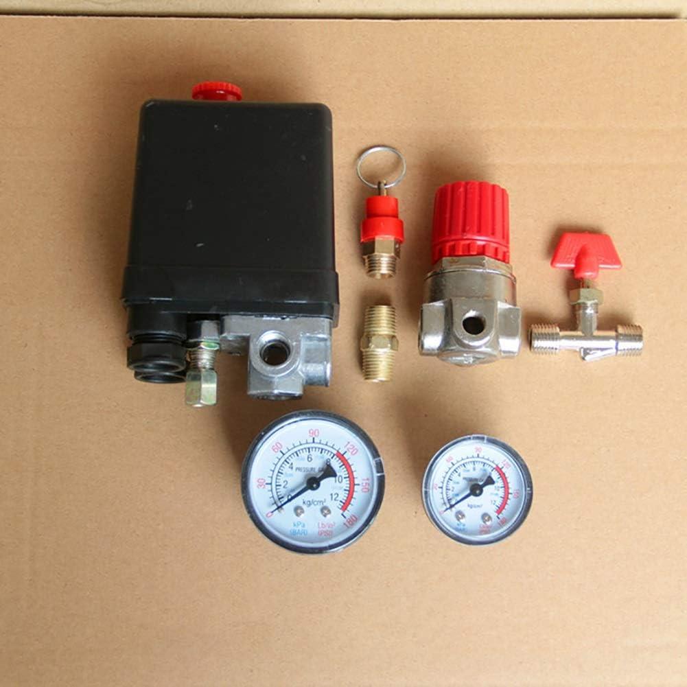 90-120PSI Small Air Compressor Pressure Switch Control 20A 240V//AC Adjustable Air Regulator Valve Compressor Four Holes