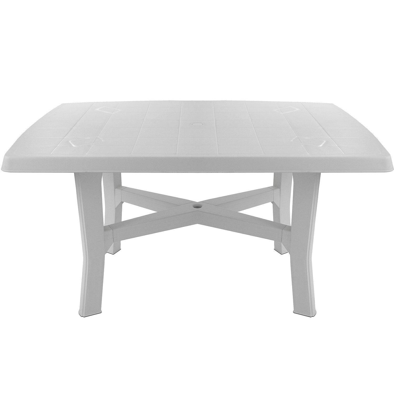 Robuster Gartentisch 138x88cm rechteckige Tischplatte Beistelltisch ...