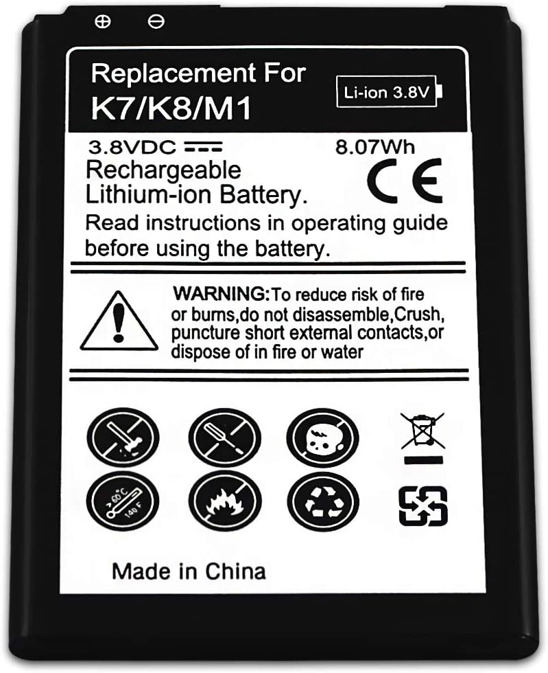 for LG Series D213 Escape 3 H340 K7 K8 K8V K371 K373 L33 Leon LS675 MS330 Phoenix 2 Tribute 5 VS500 X210 BL-46ZH WalR Rechargeable Replacement Cell Phone Battery
