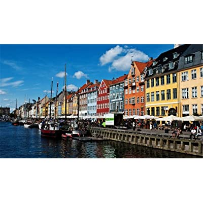 Adult 1000 Piece Jigsaw Puzzle Copenhagen Boat River DIY Kit Wooden Puzzle Modern Home Decor Boys Girls Unique Stress Reliever Gift: Toys & Games