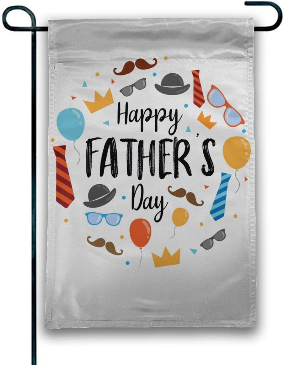 Rossne G sun Happy Father's Day Love You Garden Flag House Flag Decoration Double Sided Flag 12.5 x 18 Inch