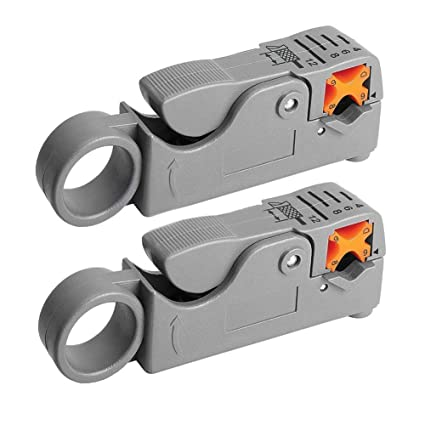SODIAL(R) 2x New Coaxial Cable Stripper Coax Stripping Tool RG59 RG58 RG6