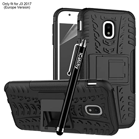 competitive price 71947 1f2c9 Samsung Galaxy J3 2017 Case, Heavy Duty Tough Armour Rugged Shockproof Case  for Samsung Galaxy J3 2017 + Screen Protector & Microfibre Polishing Cloth  ...