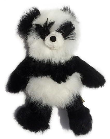 Amazon Com Baby Alpaca Fur Panda Teddy Bear Hand Made 12 Inch