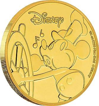 Power Coin Mickey Mouse 90 Aniversario Disney Moneda Oro 25$ Niue ...