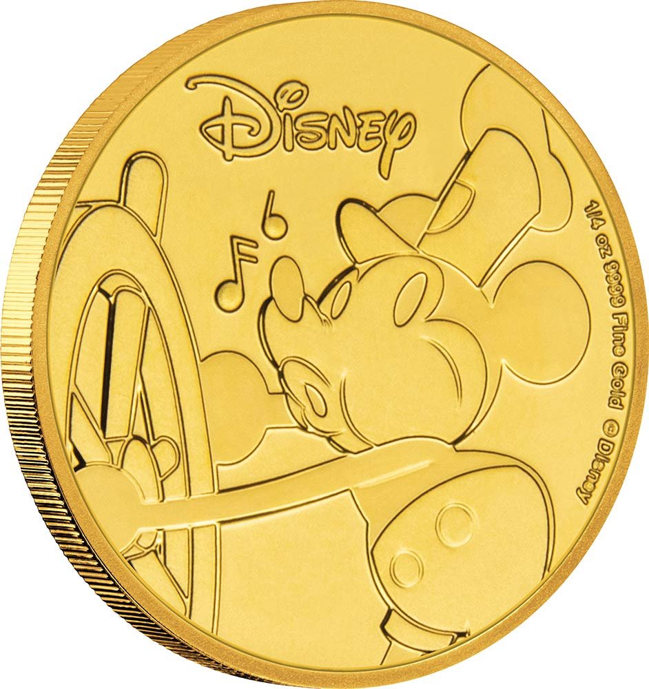 MICKEY MOUSE 90th Anniversary Disney Gold Coin 25$ Niue 2018 B07GN3B934