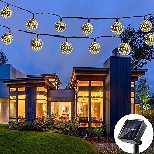 outdoor moroccan lighting. solar string light outdoor, goodia 30 led gold moroccan waterproof warm  white lights for curtain,bedroom,patio,lawn,landscape,fairy garden,home outdoor moroccan lighting a