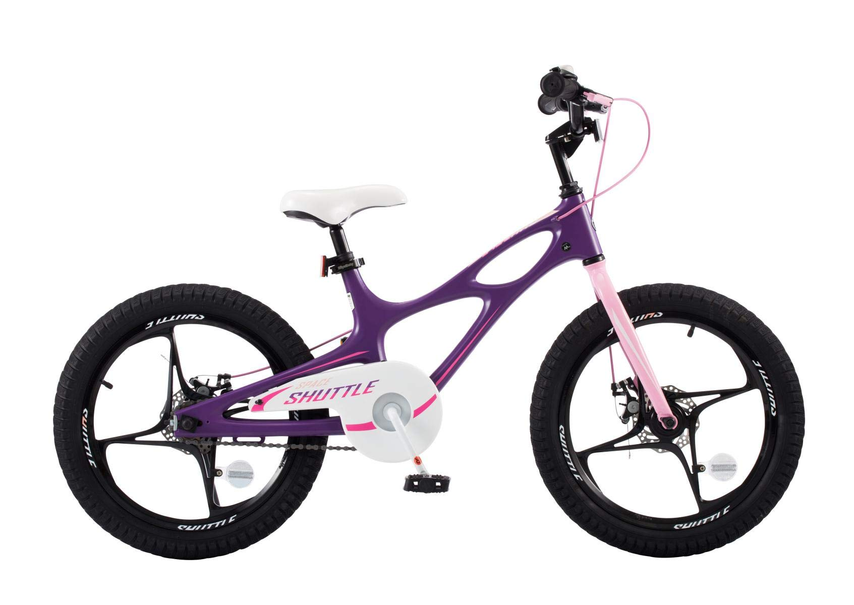 Royalbaby Space Shuttle Lightweight Magnesium Kid's Bike with Disc Brakes for Boys and Girls, 18 inch with Kickstand, Lilac