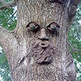 Vilight Tree Forest Face Plaque Outdoor Tree Trunk Decoration - Unique Funny Gift of Sculpture and Ornament for Garden Yard Prime