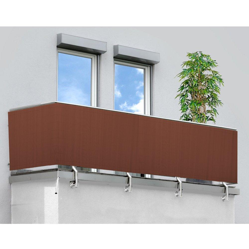 Hengda PVC Privacy Screen Fence Screen Garden Screen Windbreak Shading decorative for garden,terrace and balcony(160X500cm Brown