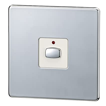 Energenie MIHO025 Mi|Home One Gang Light Switch - Chrome