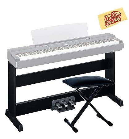 Yamaha l-255b muebles soporte para p-255b Piano Digital – negro Bundle con