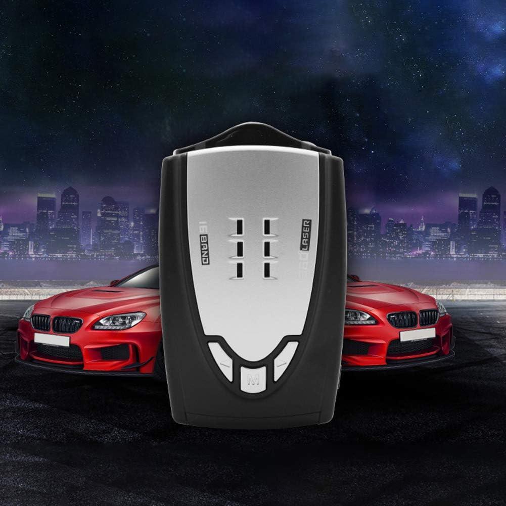 CAheadY M6 Car Full Band Scanning Speed Control Voice Alert Warning Radar Detector Useful Tool Silver Black