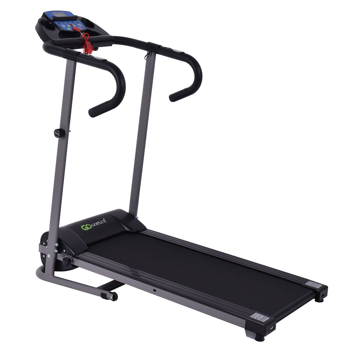 Goplus 1100W Folding Treadmill Electric Motorized Power Fitness Running Machine w/ Support