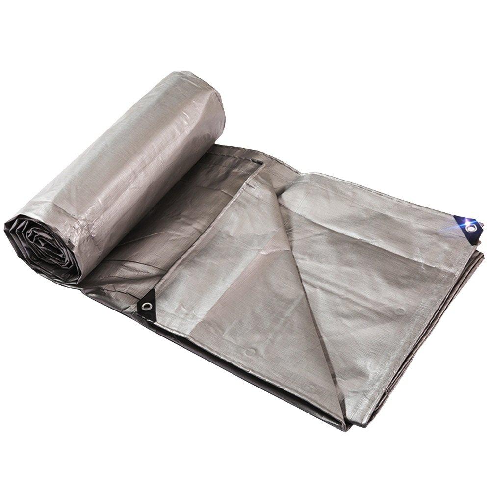 ZHANWEI ターポリンタープ Tarp テント タープ 厚い防水布 オーニング 雨篷 耐寒性 厚い リノリウム プラスチック 目覚め 日焼け止め シェード 断熱 トラック アウトドア (色 : Gray, サイズ さいず : 5x7M) B07FXJH9HK 5x7M Gray Gray 5x7M