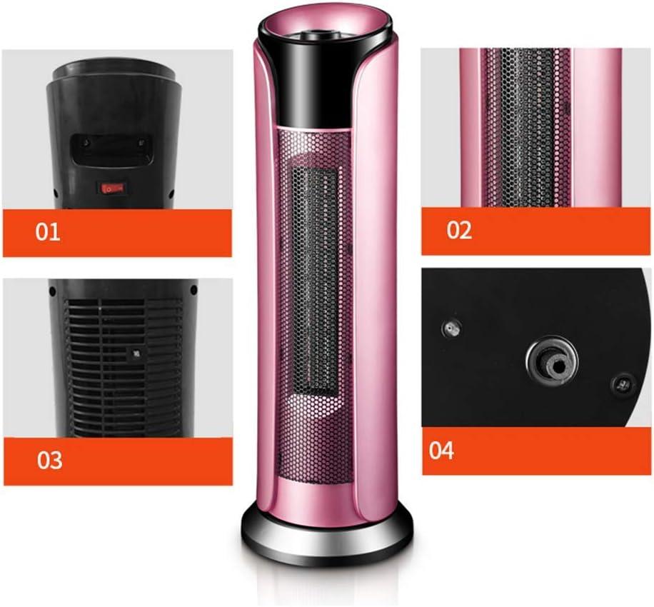 Sicherheitsschutz rosa ZHONGHUA Elektroheizungen Tragbare keramische oszillierende Elektro-Standheizung mit 3 Heizstufen