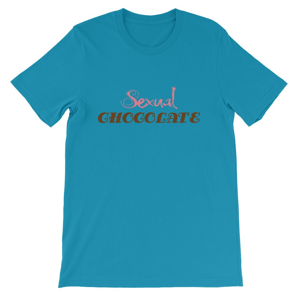 Tronic Worx Sexual Chocolate Pink and Brown Letter T Shirt