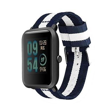 ❀para Xiaomi Huami Amazfit Bip, Correa de Pulsera de Reloj de reemplazo de Nylon Tejida Correa de Reloj Absolute: Amazon.es: Ropa y accesorios